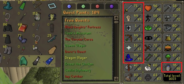 OSRS account combat level 87 ID#20200121LW87