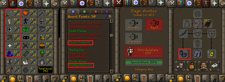 OSRS special pure account combat level 65 ID#20190915CKJ65