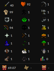 OSRS account combat level 69 ID#20200514TD69A