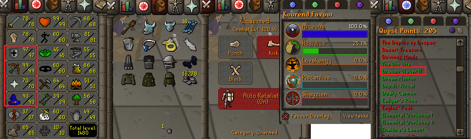 OSRS account Combat Level 108 ID#20201223MM108